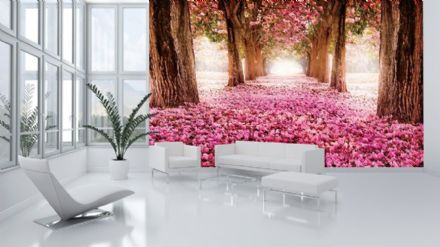 Non-woven wallpaper mural Pink Alley 851